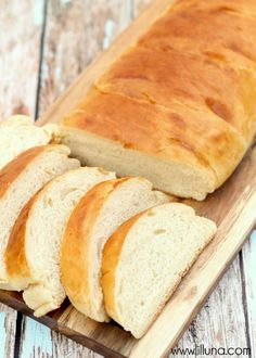 DELICIOUS Homemade French Bread recipe on { lilluna.com } Soft bread that can go with anything and top it with butter, jam, use it in so many ways.