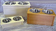 Classic Beadboard Double Feeding Station.....available in several sizes and colors & Made in the USA! Available at http://doggyinwonderland.com/item_2272/Classic-Beadboard-Double-Feeding-Station.htm