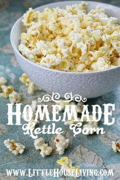 Recipe for Kettle Corn. So delicious and so easy!