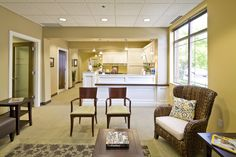 Comfortable residential style medical reception area - Progressive Architecture design.