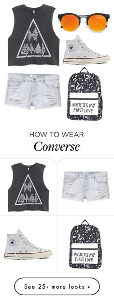"""Untitled #568"" by queenzella on Polyvore featuring MANGO, LULUS and Converse"