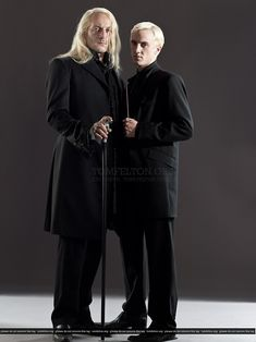 Photo of Draco Malfoy & Lucius Malfoy for fans of Draco Malfoy.