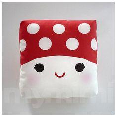 Little Mushroom Mini Cushion  <3    (Keeping it Kawaii)