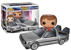 Back to the Future DeLorean Time Machine Pop! Vinyl Vehicle with Marty McFly…
