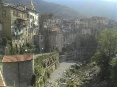 Small town in Italy. The base of canyoning.