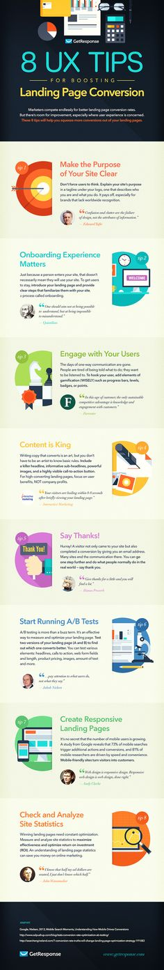#UX #Infographic: 8 UX Tips to Boost Your Landing Page Conversion Rate