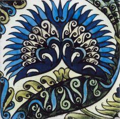 Mongolian Tile Greetings Card Higher Design, Art Uk, Arts And Crafts Movement, William Morris, Mongolia, Art Google, Tile, Greeting Cards, House Design