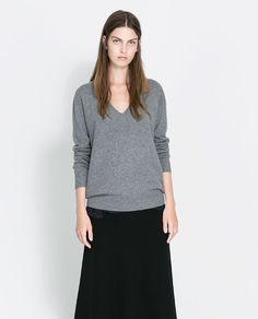 Image 2 of V-NECK CASHMERE SWEATER from Zara