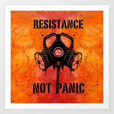 Gas mask Art Print by Nostromo - $18.72