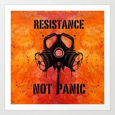 Gas mask Art Print by Nostromo - $18.72