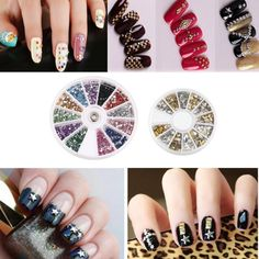 OVERMAL 15 pcs Nail Art Brushes 12 Colors Nail Art Stickers 30 colors Nail Tape And 3D Nail Art Gold and Silver Metal Studs -- This is an Amazon Affiliate link. Want to know more, click on the image.