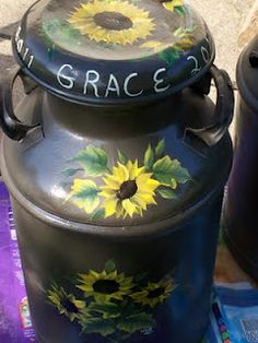 2011 Walk with G.R.A.C.E Milk cans - repurposed