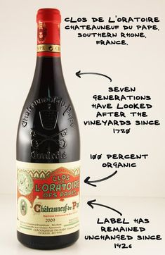 Ogier Clos de L'Oratoire Chateauneuf du Pape, Southern Rhone, France. Vin France, French Wine Regions, Wine Facts, Wine Tasting Experience, Chateauneuf Du Pape, Wine Education, Grand Cru, Expensive Wine, Wine Cheese