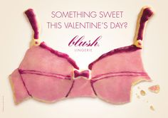 Something sweet this valentine's day? Blush Lingerie Ad by Glow Blush Lingerie, Best Ads, Plus Size Lingerie, Something Sweet, Advertising, Valentines, Sexy, Super, Contrast