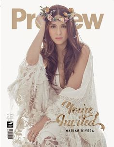 December 2014 - January 2015 cover Marian Rivera, Soiree Party, Covergirl, Look Fashion, Womens Fashion, Pretty People, Boho Wedding, Asian Beauty, My Idol