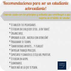 recomendaciones para el estudiante / IECS / www.campus-stellae.com