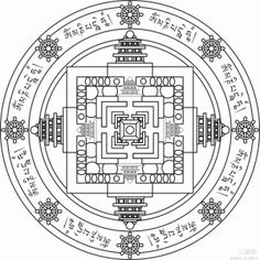 Tibet mandala - Tradition Mandala 5 > Tradition Mandalas | AMIND