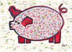 nr.1 uit de serie 35 - van de vrolijke varkens - Beauty