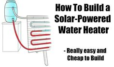 How To Build a Solar-Powered Water Heater, solar water heater, how to make free hot water, free hot water, frugal, homesteading,