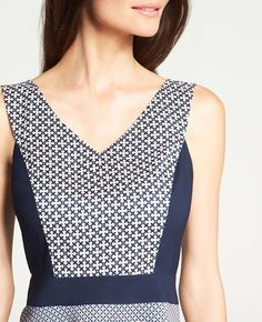 Link Print Sleeveless Peplum Top | Ann Taylor....just tried it on and i love it