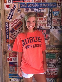 Distressed Auburn University Pocket Tee (SKU WOMEN'S TELG626153  11834892)