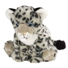 This Aurora Snow Leopard is cuddly, soft, furry, and absolutely adorable! Fur is a silky soft material. Approximately 8""