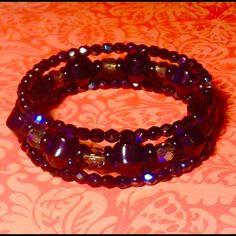 Black onyx wrap bracelet NWOT Black onyx and Czech glass 3 wrap bracelet Sayre Jewelry Bracelets