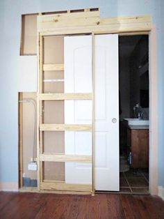 Installing a pocket door solo on a budget with a maybe not up-to-par skill set. Plus, motivation up the wazoo!