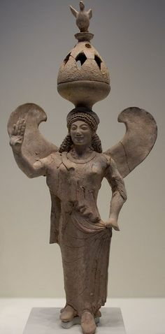 statue of Nike Incense Burner - Greek period, about 500-480 BC, at the Getty Villa