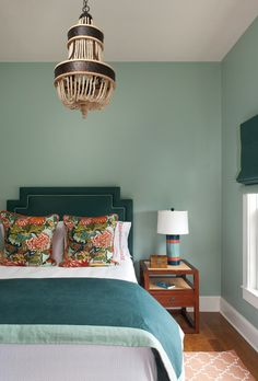 Peacock Color Rooms | Like this teal and peacock blue room featured on House of Turquoise .