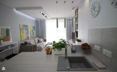 Amenajare moderna si luminoasa intr-un apartament de 39 mp- Inspiratie in amenajarea casei - www.povesteacasei.ro Color Trends, Pantone, Minimalism, Dining, Interior, Modern, Food, Trendy Tree, Design Interiors