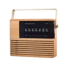 Place an iPhone 4 or 5 onto the Radio Dock, and see an iconic and nostalgic form return to your nightstand or countertop. Your iPhone connector can be pulled through the dock, allowing your device to recharge. Download our public radio app, which finds up to seven public radio stations within a 50-mile radius.