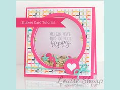 cardmaking video: Shaker Card Tutorial ... luv how the sequin dance as you lift open the card ... Stampin' Up!