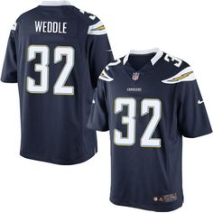 Men Nike San Diego Chargers #32 Eric Weddle Limited Navy Blue Team Color NFL Jersey Sale