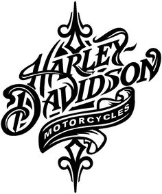 harley davidson logo black and white FkWZLjuEe