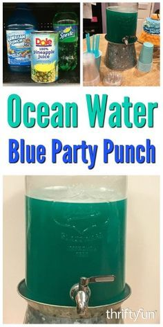 Blue Ocean Water Party Punch Recipe - Sprite - Ideas of Sprite - Blue punch may be just what you want to finish out your party theme. It is easy to make starting with blue Hawaiian Punch. Here is a recipe for making blue ocean water party punch. Hawaiian Luau Party, Hawaiian Birthday, Luau Birthday, Mermaid Birthday, Hawaiian Theme Party Food, Moana Birthday Party Ideas, Tropical Party Foods, Hawaiian Drinks, Hawiian Party