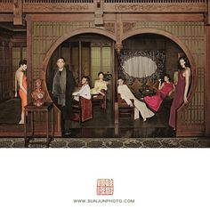 Sun Jun is a Chinese photographer, Ηe put the traditional Chinese painting element into the photos. He is like a 'photography poet' telling the story. New Chinese, Chinese Culture, Traditional Chinese, Chinese Style, Old Shanghai, Chinese Element, Hanfu, Cheongsam, Indochine