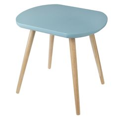 BARATO!!! 60£.  Fifties Blue Oval Wooden Coffee Table | DotComGiftShop