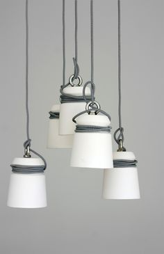Folklore Ceramic Cable Lamps from Folklore | Remodelista