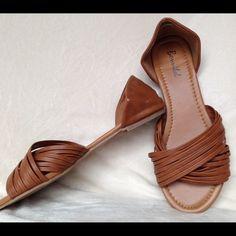 Cognac Flats Cognac flats pre loves wear can be seen in photos size 7.5 bonnibel Shoes Flats & Loafers