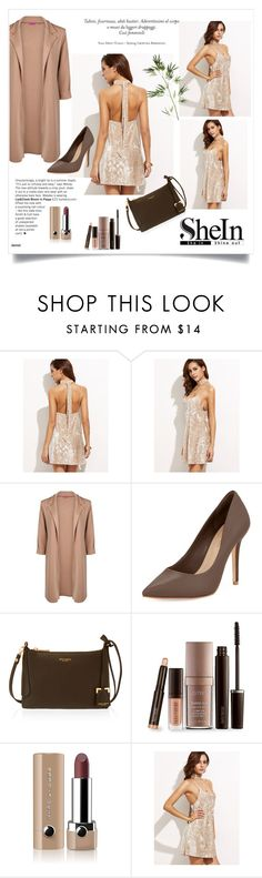 """""""Apricot Crushed Velvet Cami Dress🍂🌻"""" by rebecca-0518 ❤ liked on Polyvore featuring Boohoo, BCBGMAXAZRIA, Henri Bendel, Laura Mercier, Marc Jacobs and Pier 1 Imports"""