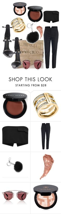 """Untitled #121"" by marinaxmilos ❤ liked on Polyvore featuring Bobbi Brown Cosmetics, Michael Kors, Josh Goot, Alexander Wang, Charlotte Tilbury, Christian Dior, Anastasia Beverly Hills and Giuseppe Zanotti"