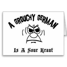 Birthday schnitzel german cards teachers discovery german funny german cards grouchy german is a sour kraut cards m4hsunfo