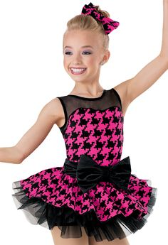 Weissman™ | Houndstooth Print Topskirt Tutu Dress