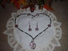 Beautiful 10in Necklace with matching by WhatMemoriesRMadeOf, $24.95