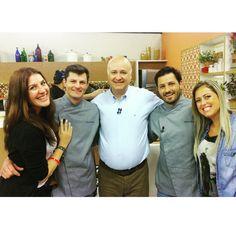 Malu Abib, chef Franco Bruzzone, Daniel Bork, chef Stefano Bruzzone e Thais Gonçalves no Dia a Dia da Band. Com Stefano Hotel e Restaurante.Junho de 2015.