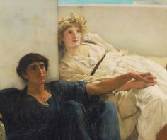 Lawrence Alma-Tadema, A reading from Homer, 1885. (detail)