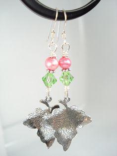 Ivy leaf earrings by sydaustin http://www.etsy.com/shop/sydneyaustindesigns