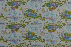 Vintage Cotton Quilting Fabric Children Fabric by #TheFabricScore #vintagefabric www.thefabricscore.com