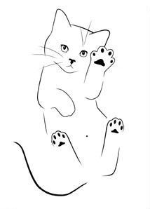 cat art painting / cat art ` cat art drawing ` cat art illustration ` cat art painting ` cat artwork ` cat art whimsical ` cat art projects for kids ` cat art wallpaper Painting & Drawing, Cat Drawing, Line Drawing, Cat Tattoo Designs, Cat Sketch, Cat Quilt, Cat Silhouette, Rock Art, Animal Drawings